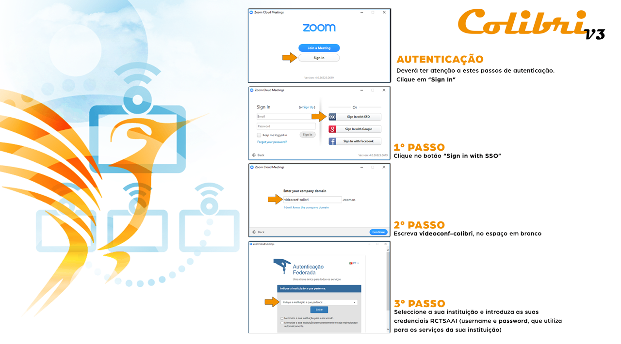 Example on how to authenticate on Zoom application